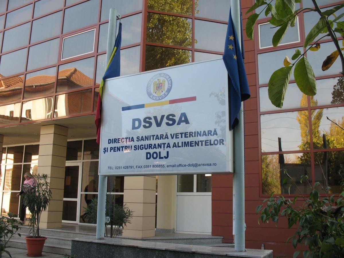 Sediu DSVSA Dolj placheta intrare